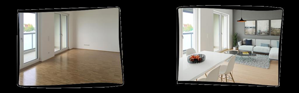 Mit Virtual Home Staging von PURE3D zeigen Sie Ihren Kunden wie es einmal aussehen kann
