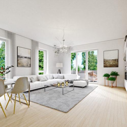 Birkenallee-wohnbereich-hell-teppich-wohnwand-3d-visualisierung-innen-raum-pure3d-bielefeld