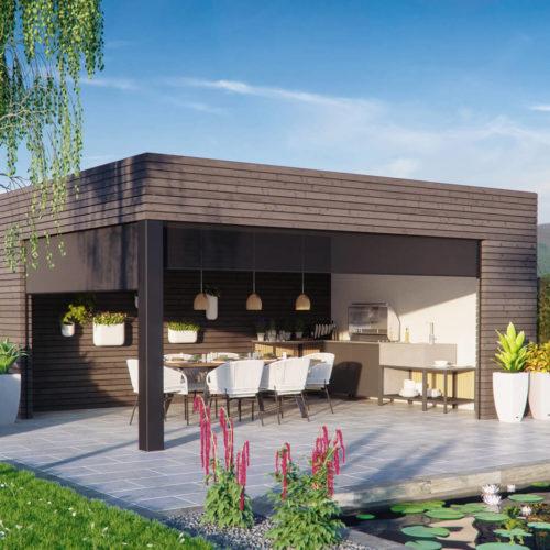 Outdoorküche-rhombus-grill-teich-modern-3d-visualisierung-gartenvisualisierung-pure3d-bielefeld