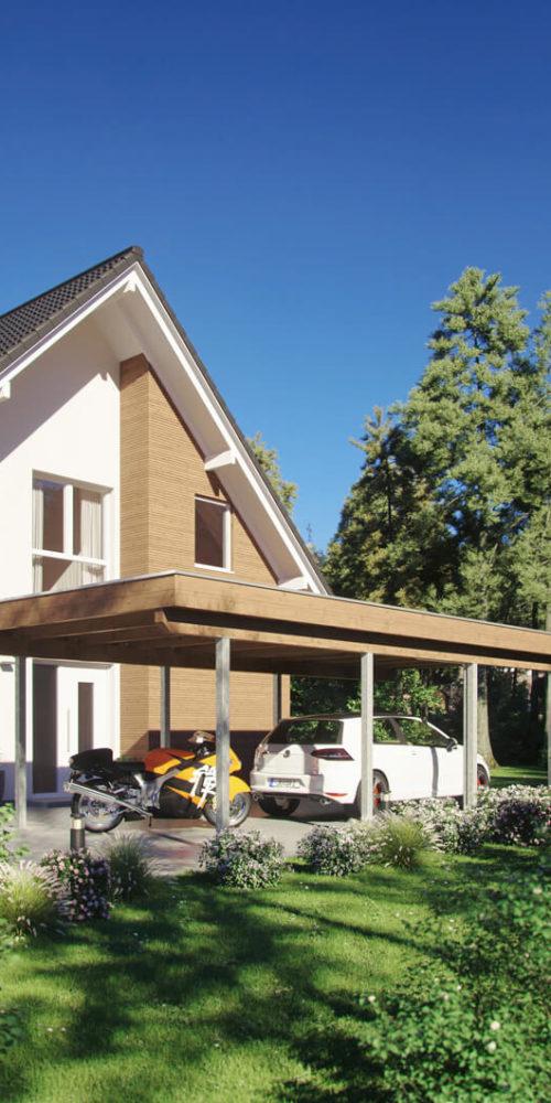 Stahlstützen-Carport-sonne-wohnhaus-3d-visualisierung-gartenvisualisierung-pure3d-bielefeld