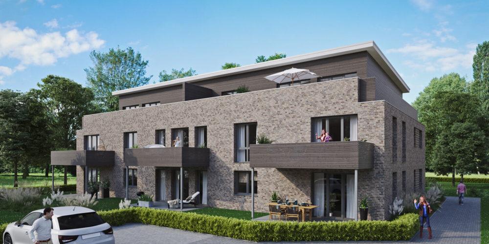 mehrfamilienhaus-verblender-rhombus-balkone-modern-3d-visualisierung-architekturvisualisierung-pure3d-bielefeld