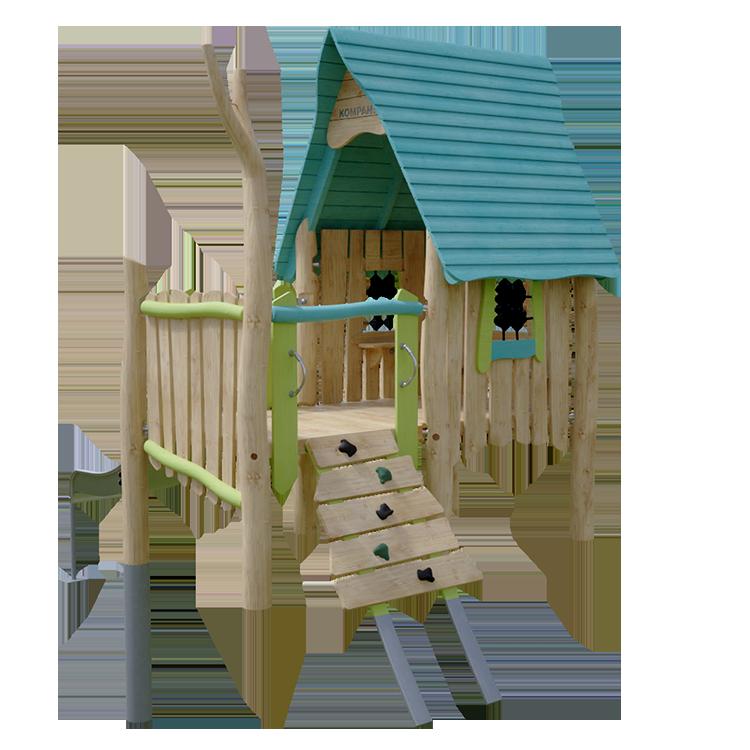 Spielhaus Modell Zauberer der Firma Kompan. Anhand von 3D CAD Daten visualisiert.